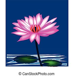 Lotus flower logo background