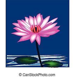 Lotus flower logo background