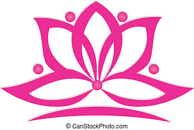 Lotus flower logo - Lotus flower vector design logo