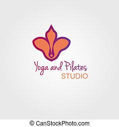 Lotus flower logo template concept. Logo sign for yoga studio or beauty salon.