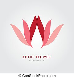 Lotus flower logo vector illustration, icon, sign, symbol