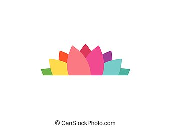 lotus flower logo, yoga health icon