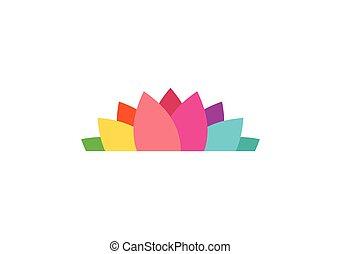 lotus flower logo, yoga health icon