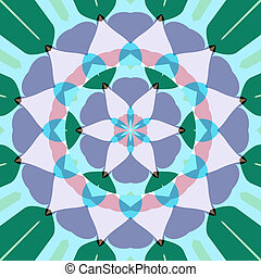 lotus flower mandala - abstract mandala like pastel colored ...