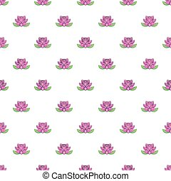 Lotus flower pattern, cartoon style