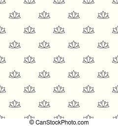 Lotus flower pattern vector seamless