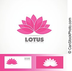 Lotus flower pink purple logo icon