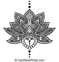 Lotus flower tattoo - Vector image of lotus flower tattoo...