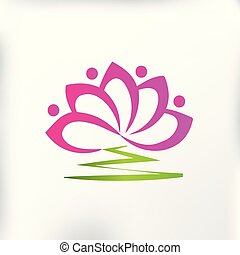 Lotus flower team logo