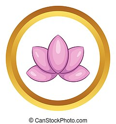 Lotus flower vector icon
