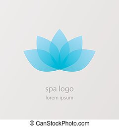 Lotus flower vector logo. Health & SPA creative idea. Asian culture concept symbol icon.
