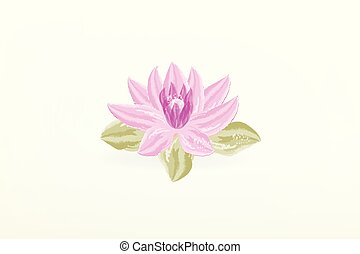 Lotus flower watercolor paint logo