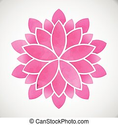 Lotus Flower. Watercolor style. Vector graphic design