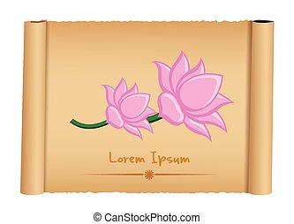 Lotus Flowers Parchment Banner