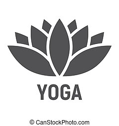 Lotus glyph icon, fitness and sport, yoga sign vector...