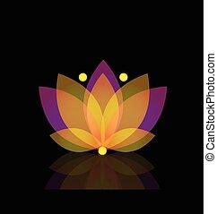 Lotus gold flower logo