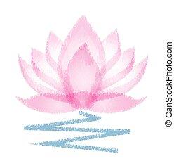 Lotus grunge flower