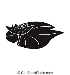 Lotus icon in black style isolated on white background. India symbol stock vector illustration.