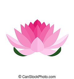 Lotus icon isolated on a white background.