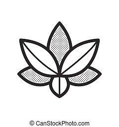 lotus icon vector design eps10