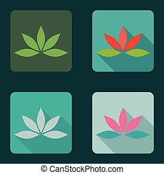 Lotus icons collection color variants