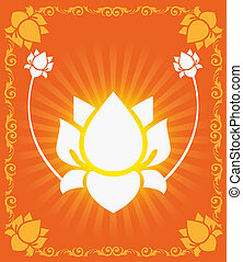 Lotus - Illustration of Lotus flowers in radiant and glossy...