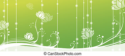 lotus in green background