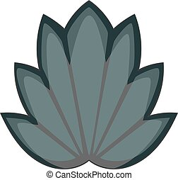 Lotus leaf icon monochrome