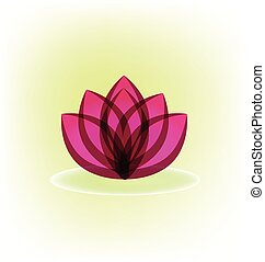 Lotus lily flower logo vector
