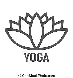 Lotus line icon, fitness and sport, yoga sign vector graphics, a linear pattern on a white background, eps 10.