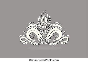 lotus, logo, abstrakt, blomst