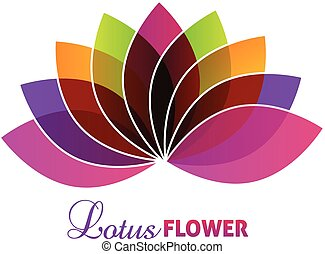 lotus, logo, bloem, paarse