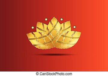 lotus, logo, fleur