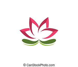 lotus, logo, vecteur, conception, beauté