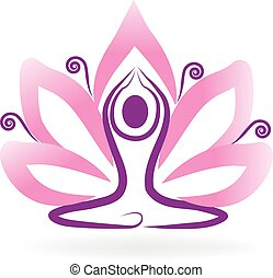 lotus, logo, yoga
