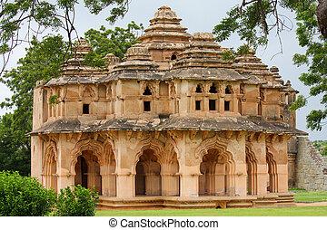 Lotus Mahal at the Zenana Enclosure in Hampi, South India