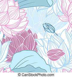 lotus, modèle, seamless
