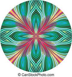 lotus, modèle, vecteur, rond