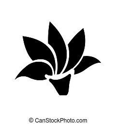 clipart vecteur de fleur lotus silhouette symbole. Black Bedroom Furniture Sets. Home Design Ideas