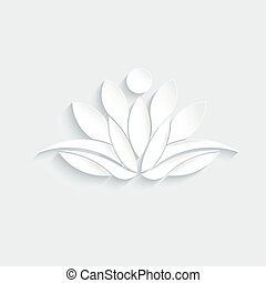Lotus person plant logo