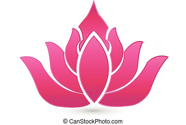 Lotus pink flower company card logo