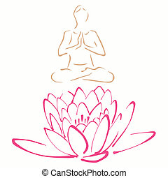 Lotus pose of yoga