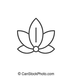 Lotus position icon or yoga concept isolated on white. Vector illustration