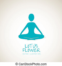lotus position - silhouette of a person in the lotus...