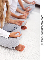 Lotus position yoga relaxation detail - Yoga lotus position...