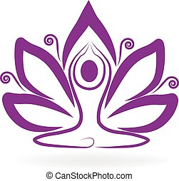 Lotus purple flower yoga