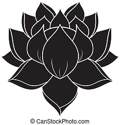 Lotus Set 023 - illustration of lotus silhouette