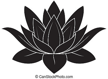 Lotus Set 025 - illustration of lotus silhouette