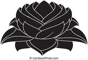 Lotus Set 028 - illustration of lotus silhouette