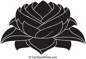Lotus Set 028 - illustration of lotus silhouette